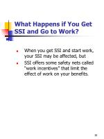 what happens if you get ssi and go to work