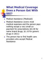 what medical coverage does a person get with ssi