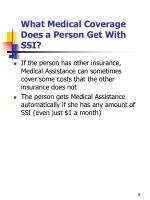 what medical coverage does a person get with ssi1