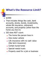 what s the resource limit