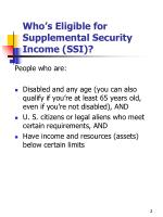 who s eligible for supplemental security income ssi