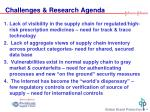 challenges research agenda