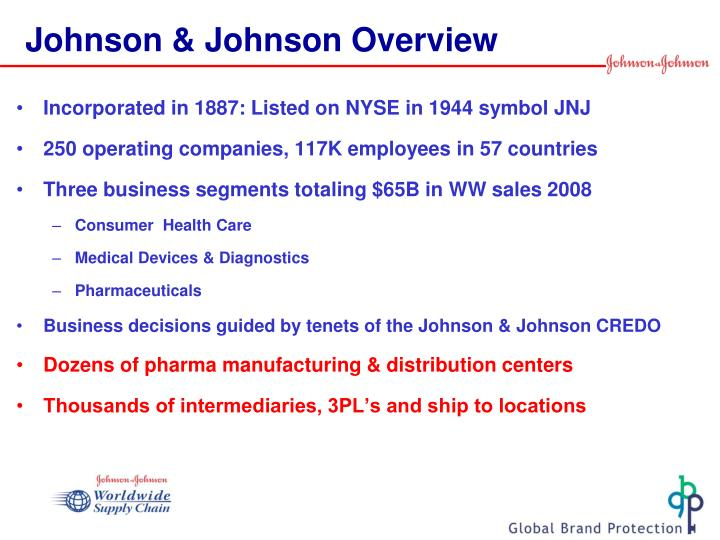 johnson johnson overview n.