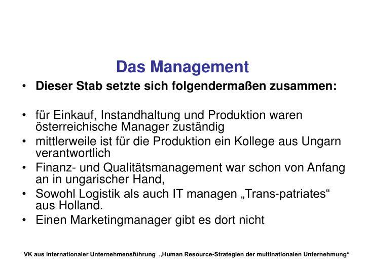 Das Management