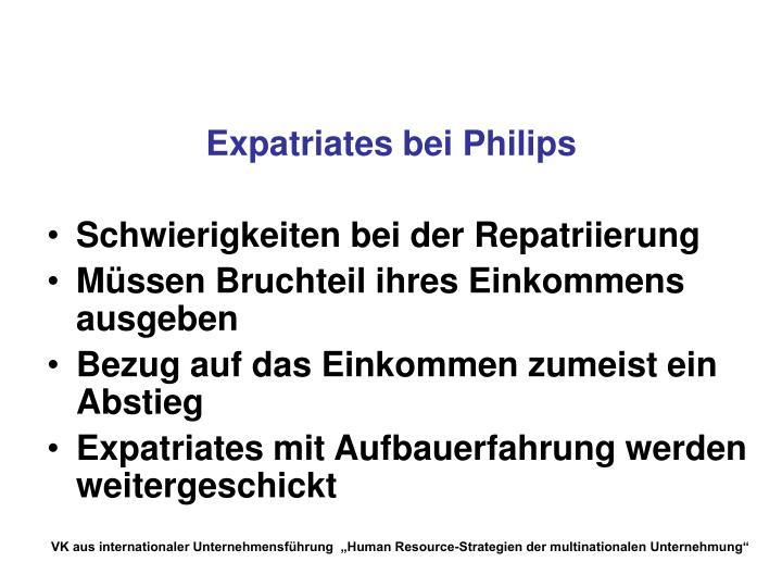 Expatriates bei Philips
