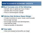 how to achieve economic growth