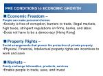 pre conditions to economic growth