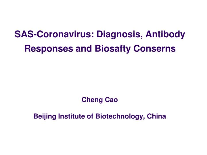 cheng cao beijing institute of biotechnology china n.