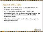 adjunct ifo faculty