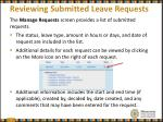 reviewing submitted leave requests