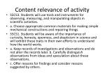 content relevance of activity