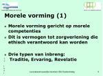 morele vorming 1