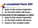 a completed form 337