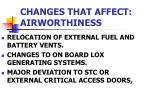 changes that affect airworthiness