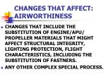 changes that affect airworthiness2