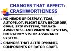 changes that affect crashworthiness1
