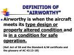 definition of airworthy