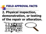 field approval facts2