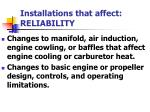 installations that affect reliability