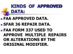 kinds of approved data1