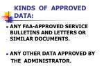 kinds of approved data6