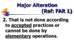 major alteration ref far 11