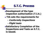 s t c process
