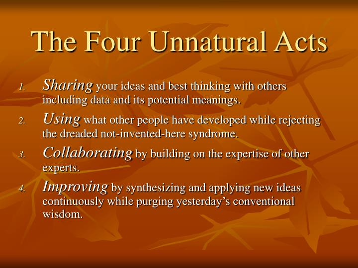 The Four Unnatural Acts