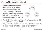 group scheduling model