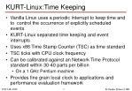 kurt linux time keeping