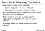 round robin scheduling conclusions