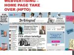 webvertising home page take over hpto