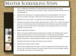 master scheduling steps