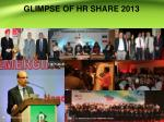glimpse of hr share 2013