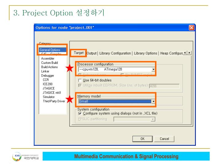 3. Project Option