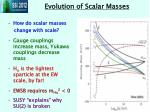 evolution of scalar masses