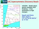 lhc supersymmetry discovery reach