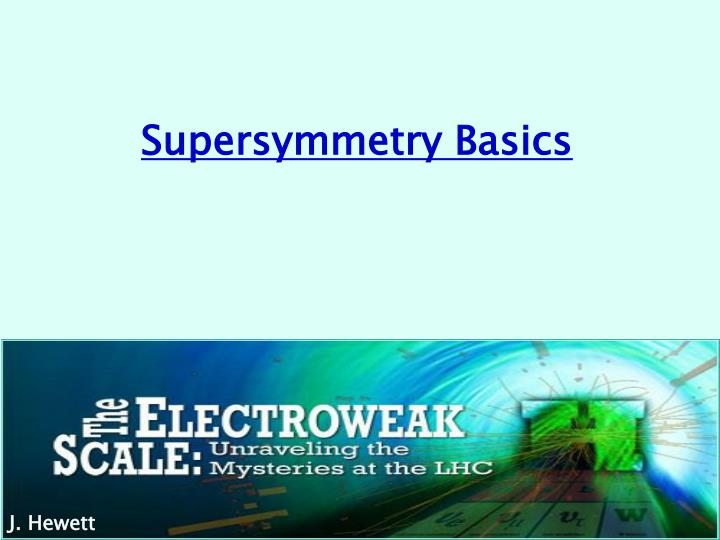 supersymmetry basics n.