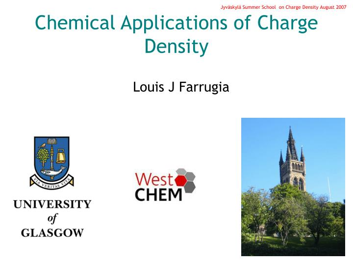 chemical applications of charge density n.
