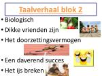 taalverhaal blok 21