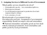 assigning services to different levels of government