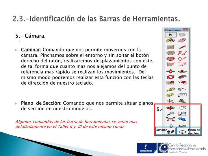2.3.-Identificación de las Barras de Herramientas.