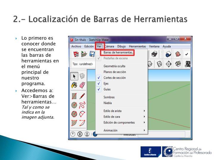 2.- Localización de Barras