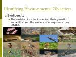 identifying environmental objectives3