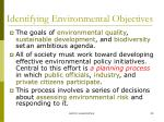 identifying environmental objectives4