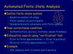 automated finite state analysis