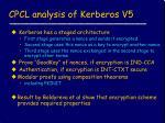 cpcl analysis of kerberos v5