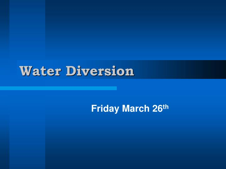 water diversion n.