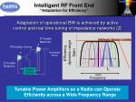 intelligent rf front end adaptation for efficiency