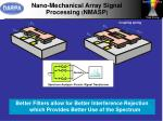 nano mechanical array signal processing nmasp